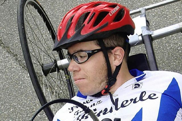 Handbiker Jochen Gerbel Vierter bei der DM