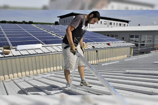 Solarmodule für die Klinik