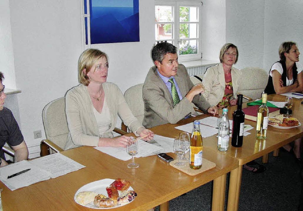 Gemeinsamkeiten wie Gegensätze legte d... und Edith Sitzmann eingeladen hatte.   | Foto: mario schöneberg