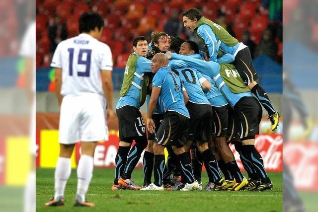Uruguay steht im Viertelfinale