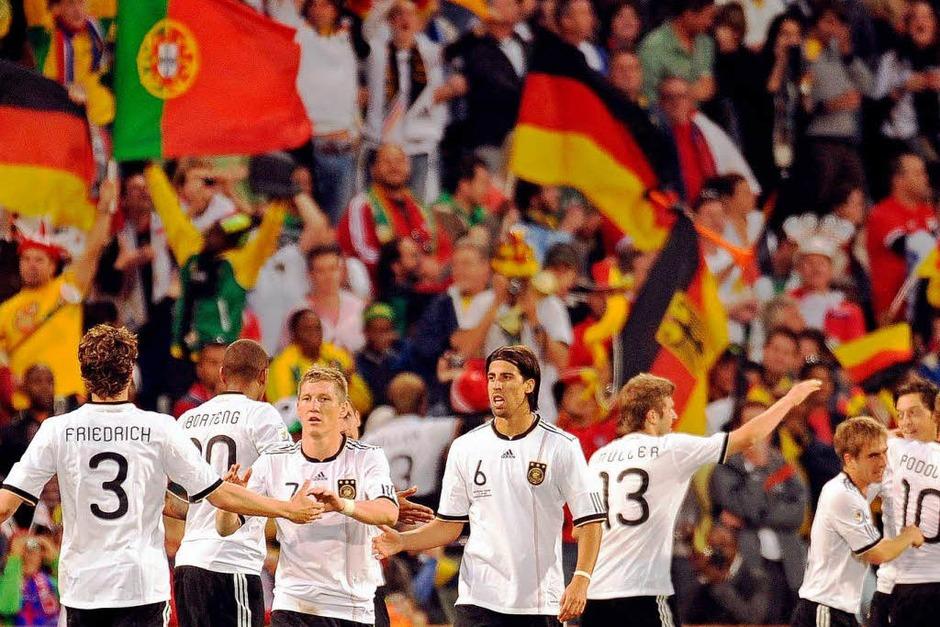Großer Jubel nach dem Sieg (Foto: dpa)