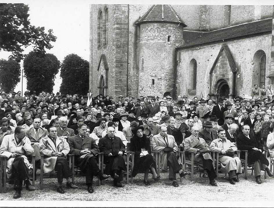 Kundgebung am 30. September 1951 zum e...stag der Europa-Abstimmung in Breisach  | Foto: stadtarchiv