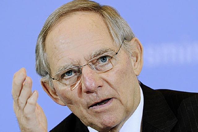 Schäuble rügt Köhler in scharfer Form