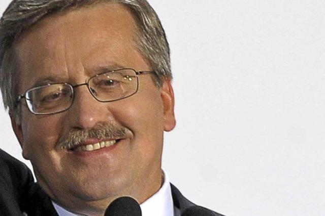 Komorowski wird neuer polnischer Präsident