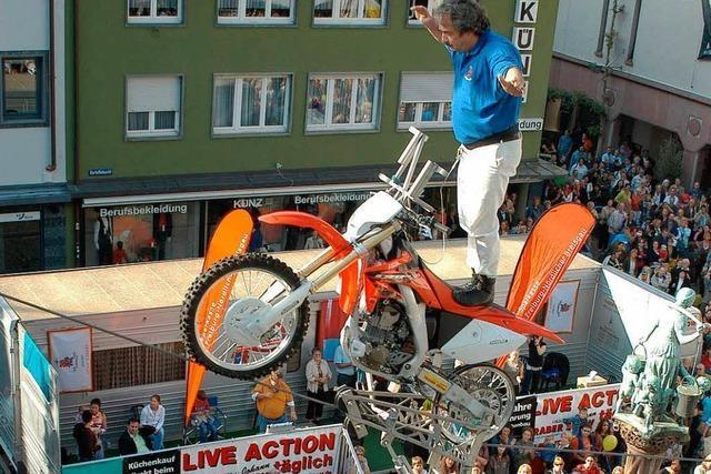 Johann Traber arbeitet seit 50 Jahren auf dem Hochseil