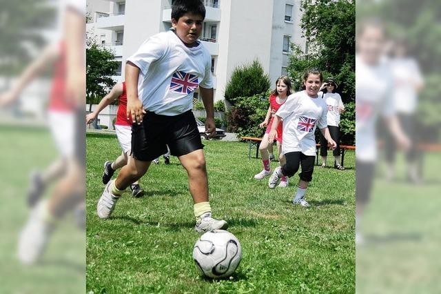 Sommerfest Eichendorffschule: Schüler spielen eigene WM