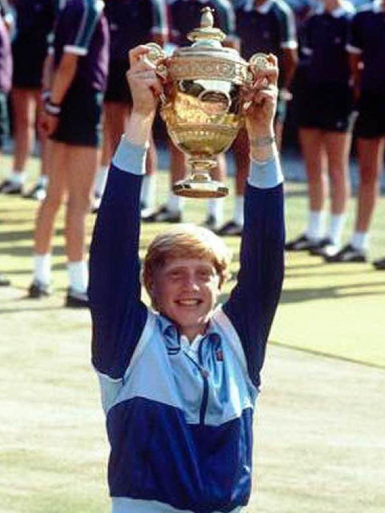 Erster Wimbledon Sieg Von Boris Becker