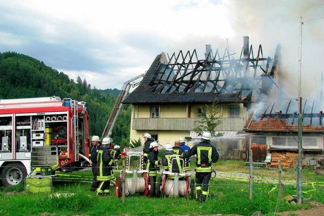 Brand in Kropbach: Mehrere Hunderttausend Euro Schaden
