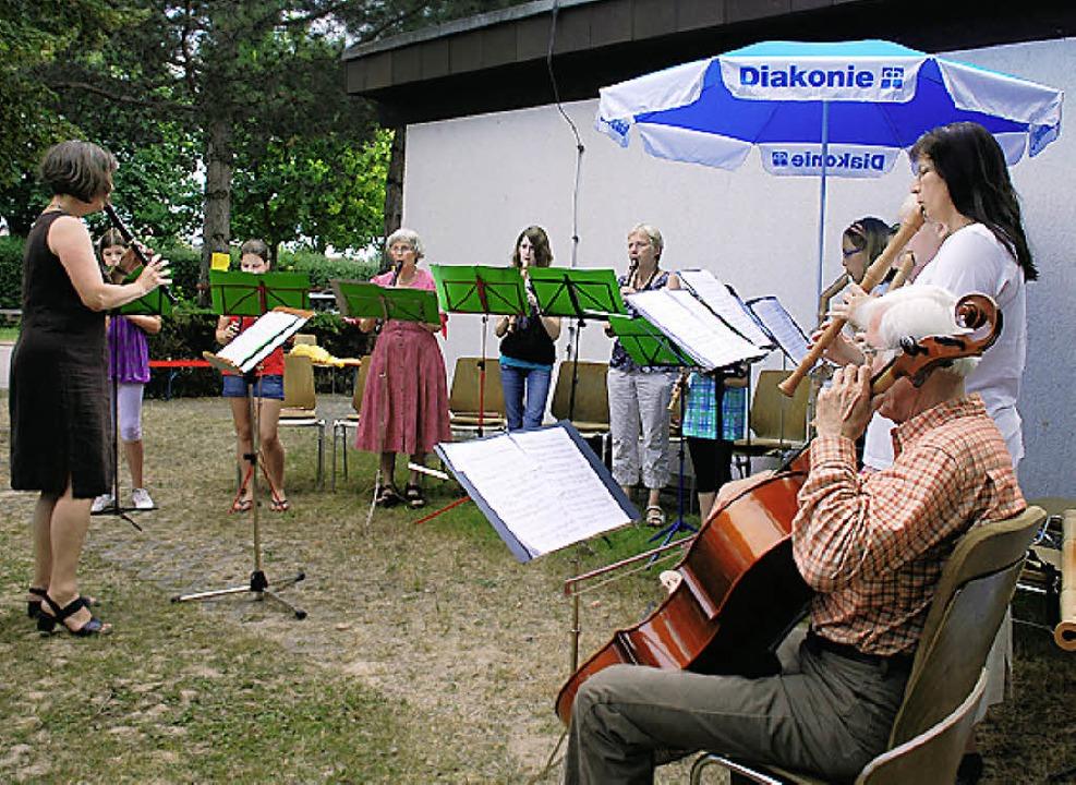 Beim Gemeindefest war für Unterhaltung gesorgt.    Foto: Stehle