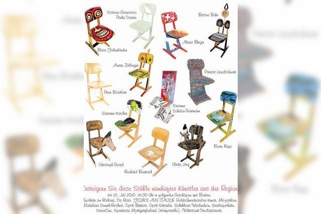 Stuhl-Auktion: Finale beim Kindertag
