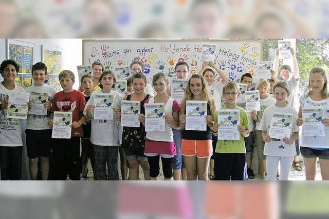 Schüler schaffen für albanische Kinder