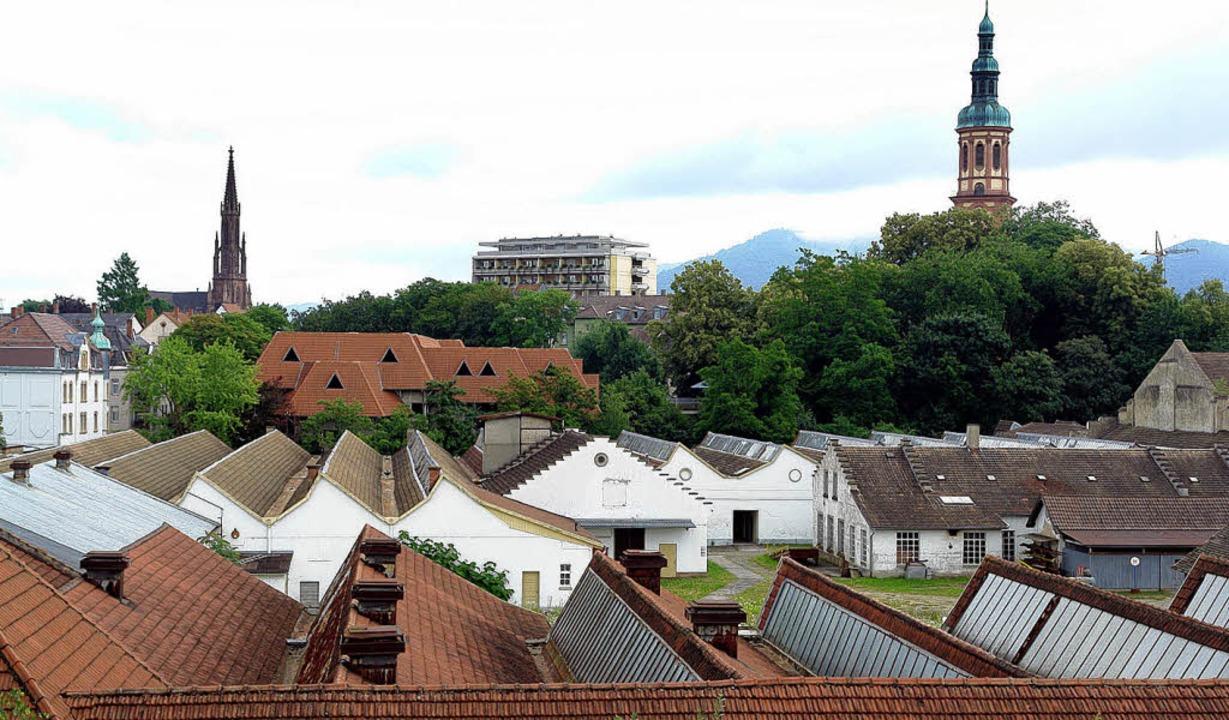 Aus dem Areal der früheren Spinnerei s... klimafreundliches Wohngebiet werden.     Foto: P. HEck