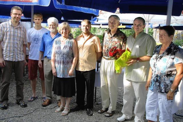 Viele Gratulanten bei der Familie Gaß in Jechtingen