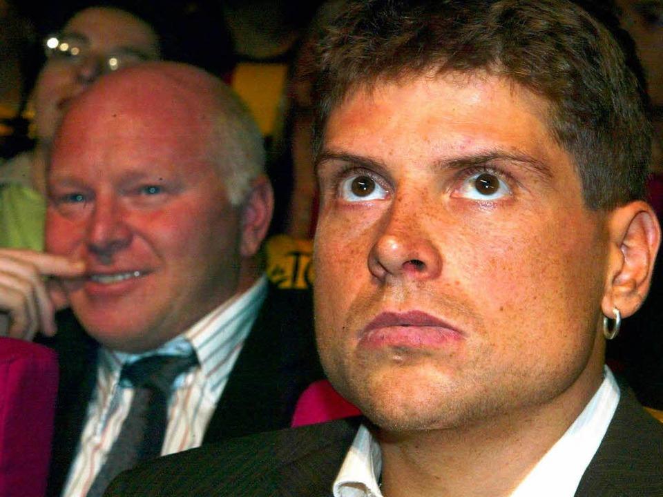 Rudy Pevenage und Ex-Schützling Jan Ullrich.  | Foto: Gero Breloer