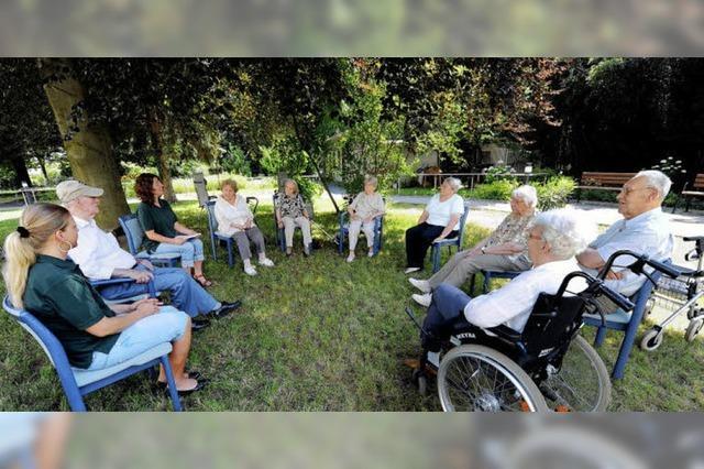 Gartenarbeit als Sitzgymnastik