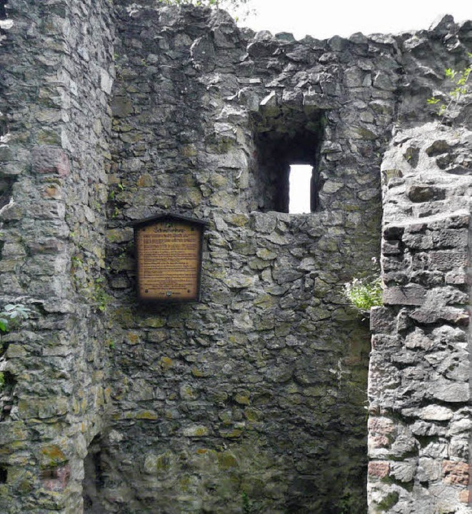 Reste der Ruine Schwarzenberg  | Foto: Karin Heinze
