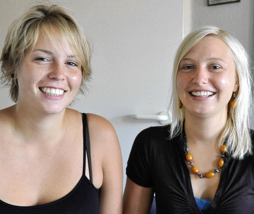 Haben nach ihrem Abitur das Leben in U...) und Anna Langer aus Murg-Niederhof.   | Foto: Elisabeth Willers