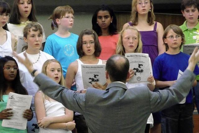 Klangpyramide aus Lehrernamen