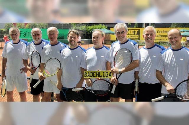 Tennisherren 55+ feiern Aufstieg in die Badenliga