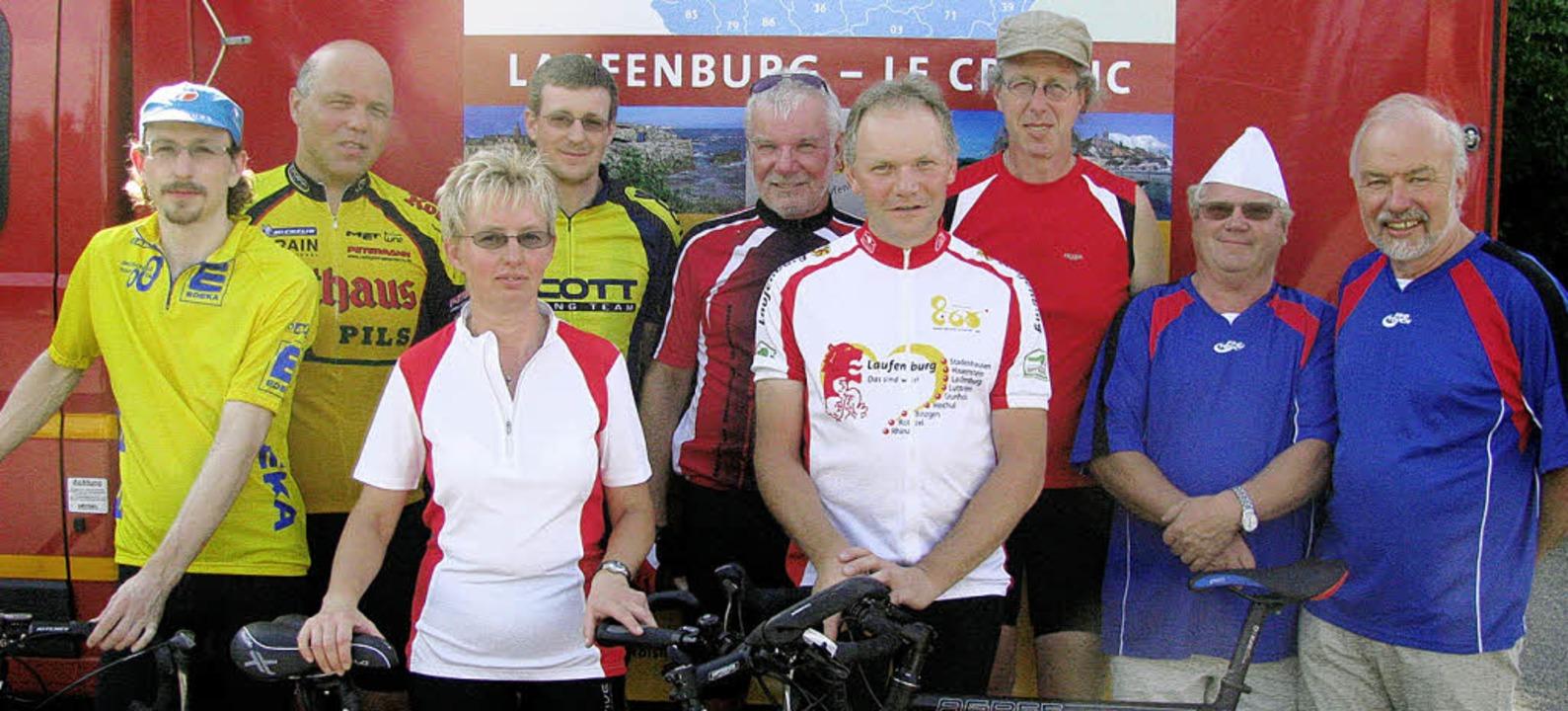 Die Laufenburger Teilnehmer an der Rad...Josef Eckert und Hans-Joachim Eckert.   | Foto: Michael Gottstein