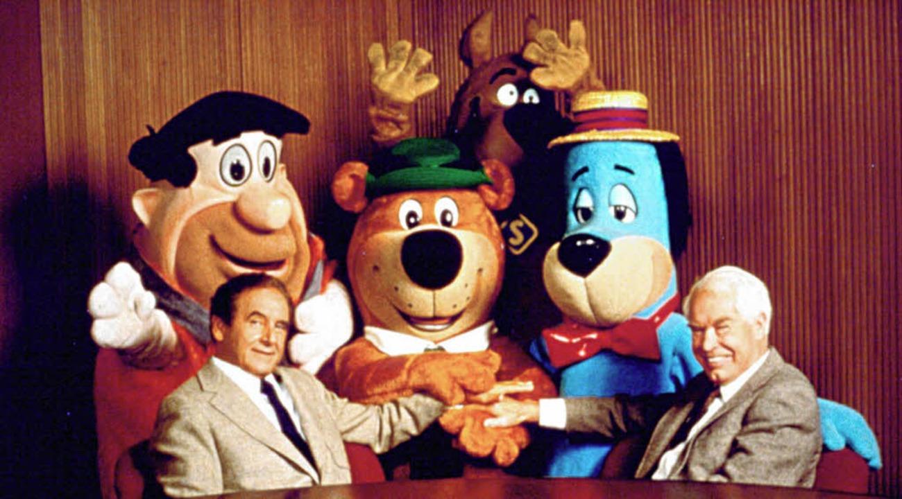 Joseph Barbera (links), William Hanna und ihre Geschöpfe   | Foto: dpa