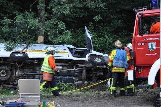 Höllental: Kleintransporter verunglückt – Handwerker stirbt