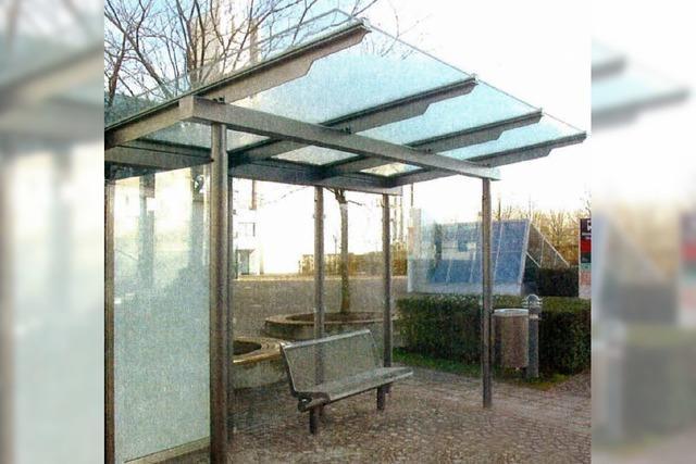Ein Dach für Busfahrgäste