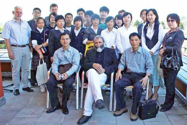 Chinesische Schüler an Kreis und Region interessiert