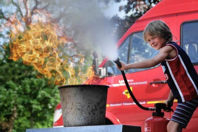 Wie ein echter Feuerwehrmann