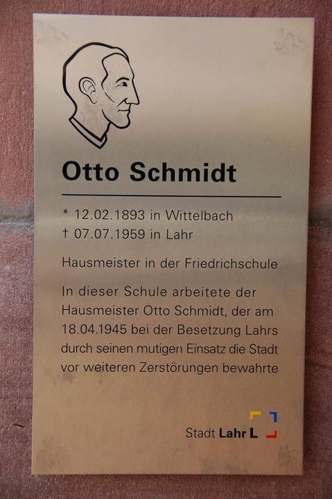 Gedenktafel für Schmidt  | Foto: Christian Kramberg