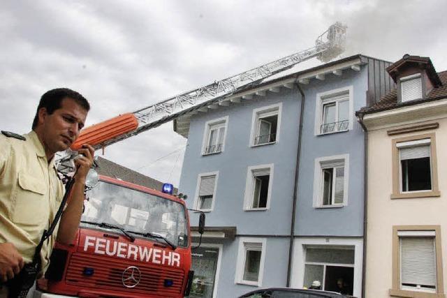 Feuer in der Innenstadt