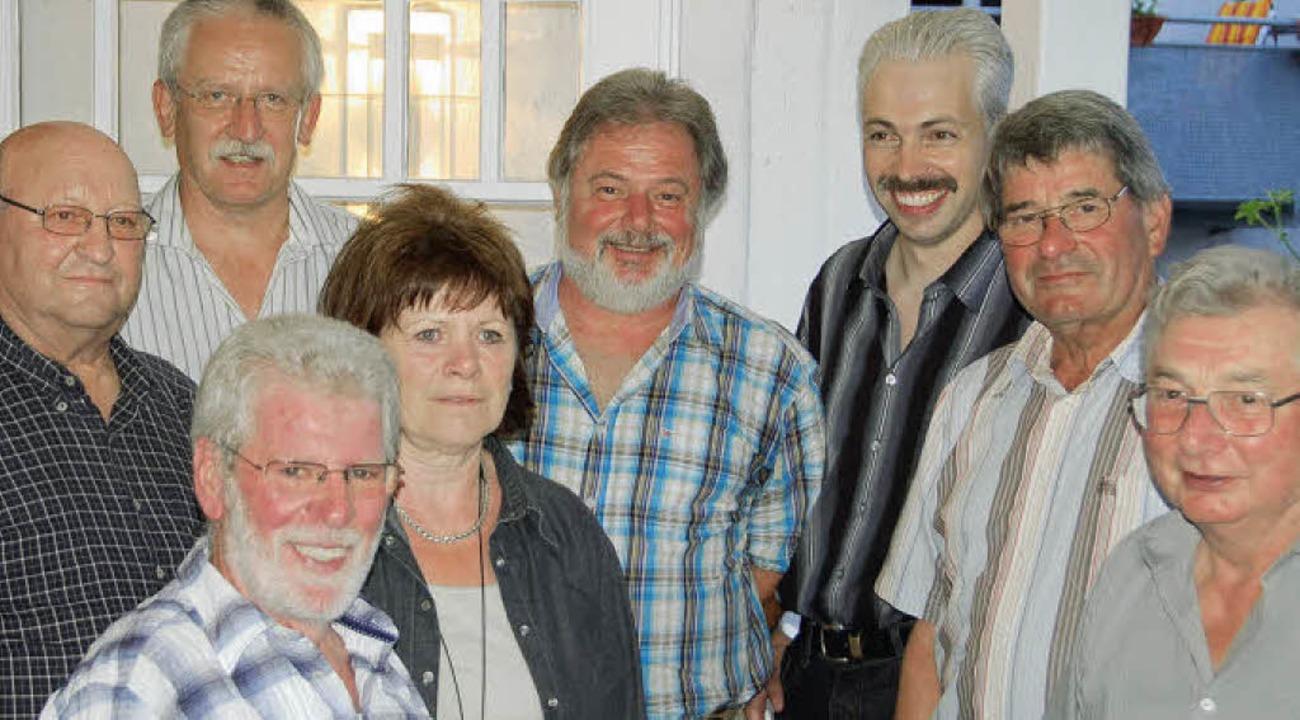 Gartenbauverein: Der Vorstand des Wehr...elber und Bruno Schilloks (von links).  | Foto: Hrvoje Miloslavic