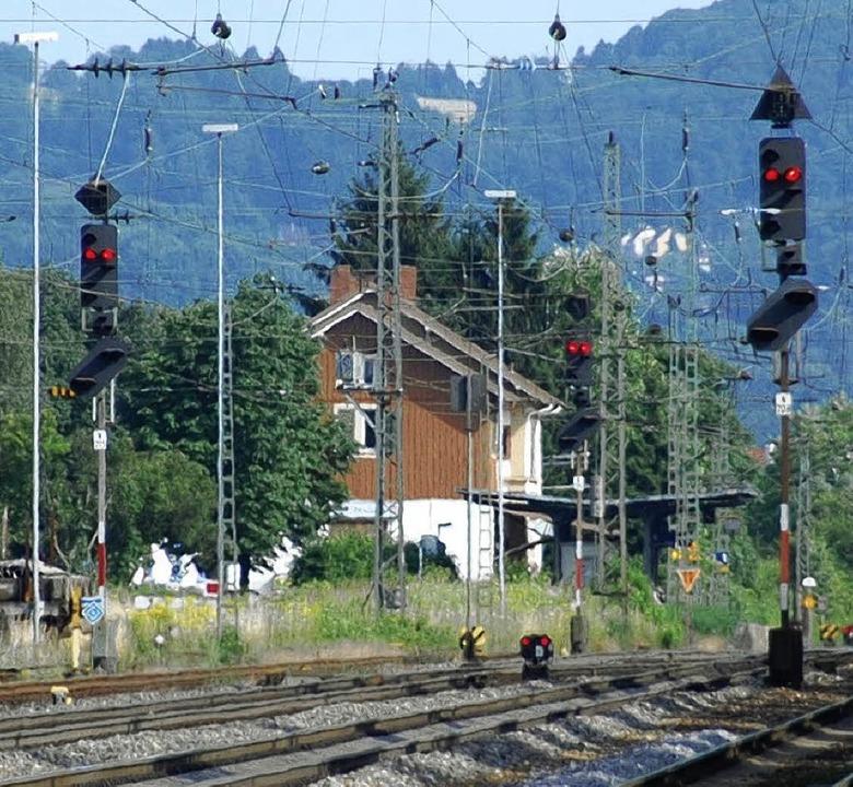 Anstrengen muss an sich in Haltingen, ...e Planung den Takt mit der Bahn hält.   | Foto: LAUBER