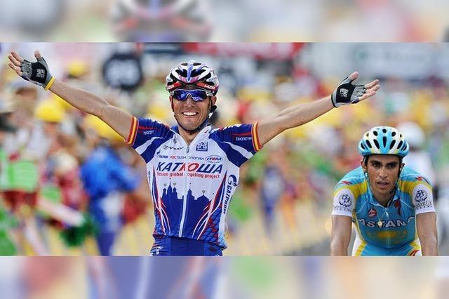Contador zeigt Muskeln