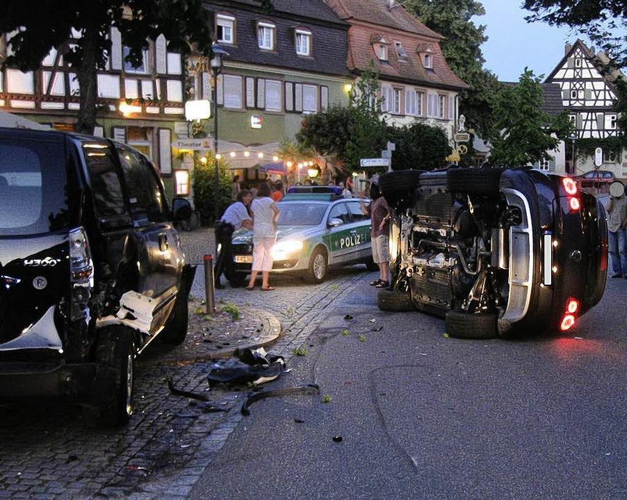 Die Unfallstelle in der Riegeler Hauptstraße.   | Foto: Polizei
