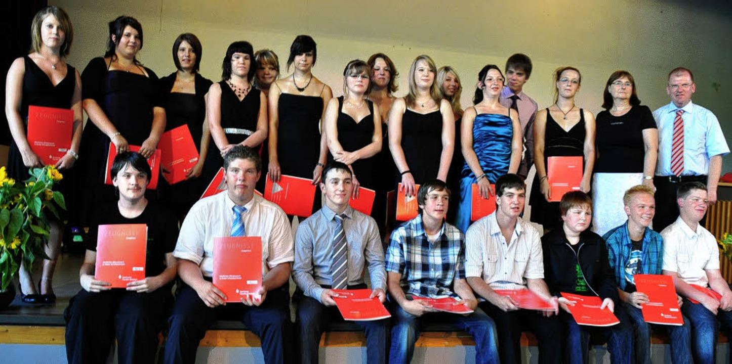 Abschlussklasse Wilhelm-Hildenbrand-Schule  | Foto: Birgit Lüttmann