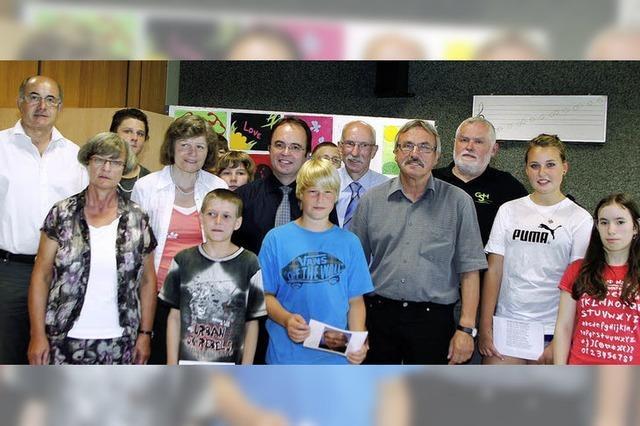 Vier Lehrer sagen der Schule Adieu