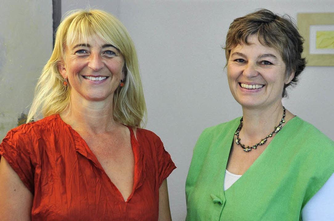 Carola Basten (links) und Elisabeth Baumstark-Biehl  | Foto: michael bamberger
