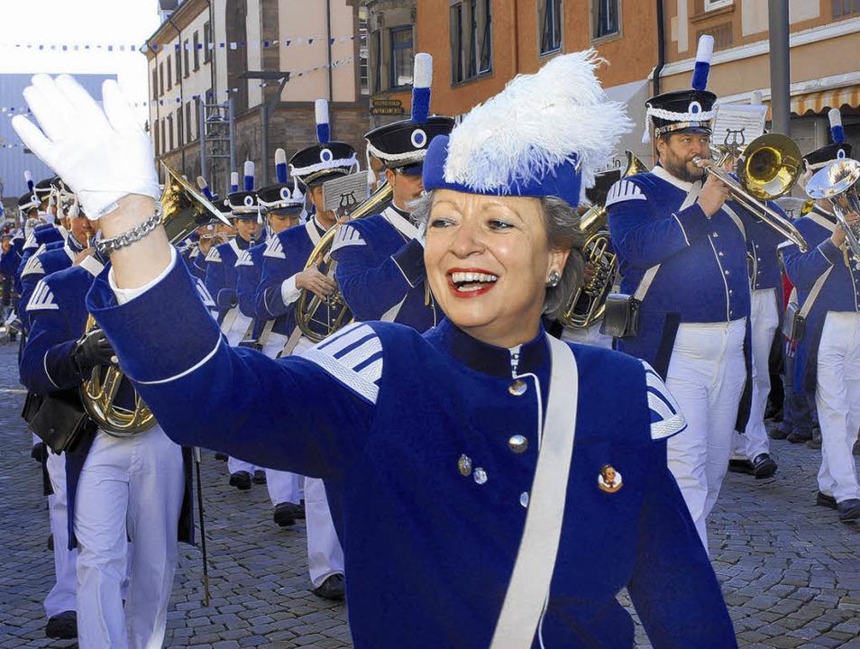 Auch sie laufen beim großen Umzug zum ...Stadt- und Bürgerwehrmusik Villingen.   | Foto: Hahne