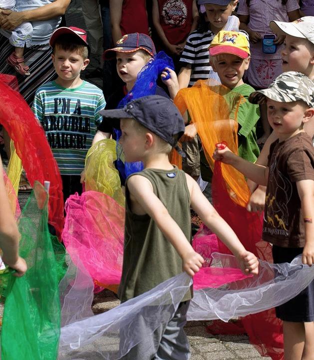 Maulburgs Kinder in Bewegung.   | Foto: PRIVAT