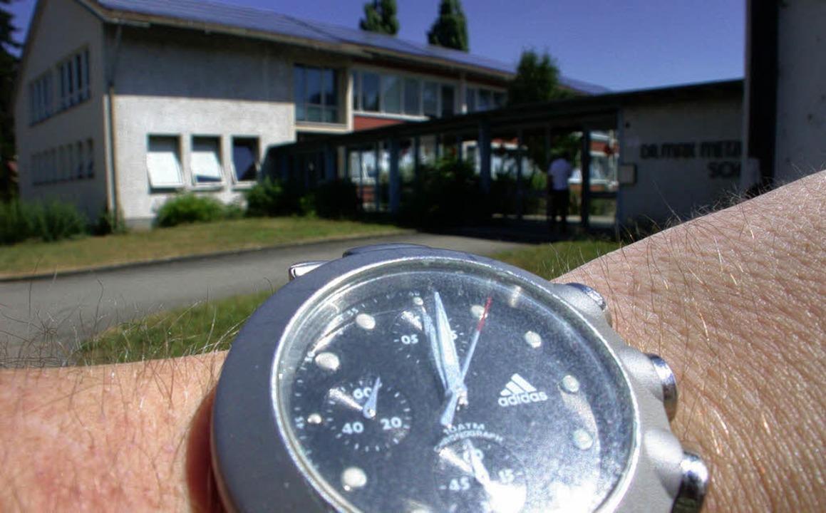 Zwölf Uhr – künftig hat die Hälf...ieb starten,  in teilgebundener Form.     Foto: André Hönig