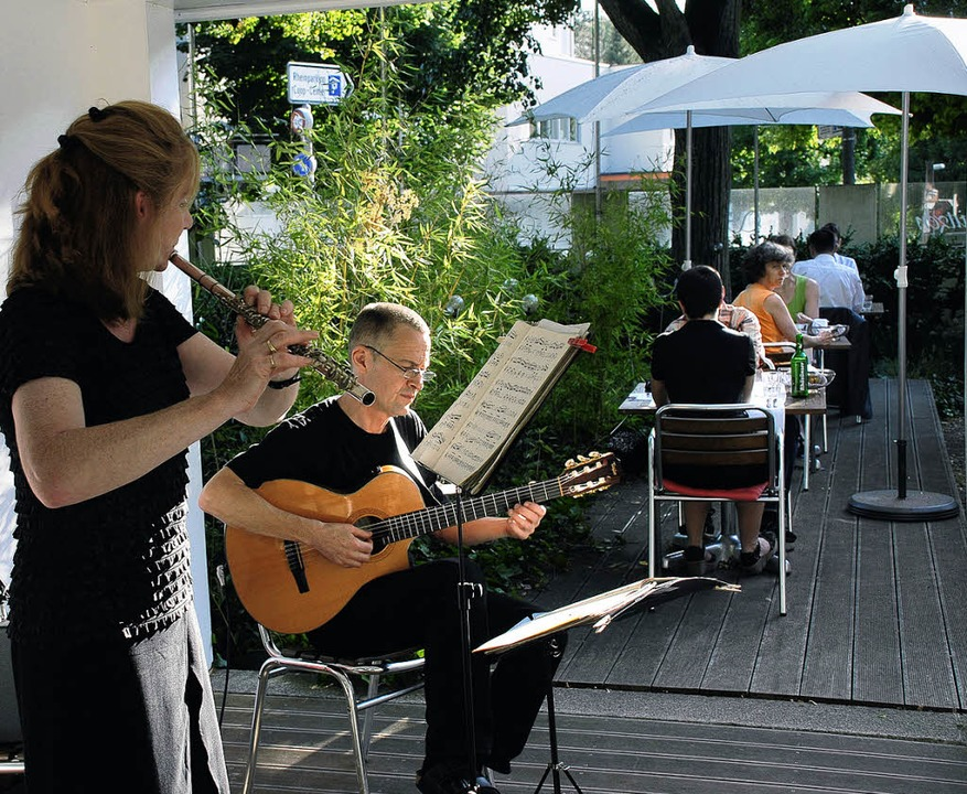 Sabine Dietrich und Uli Pfleiderer im Schützengarten  | Foto: Jannik Schall