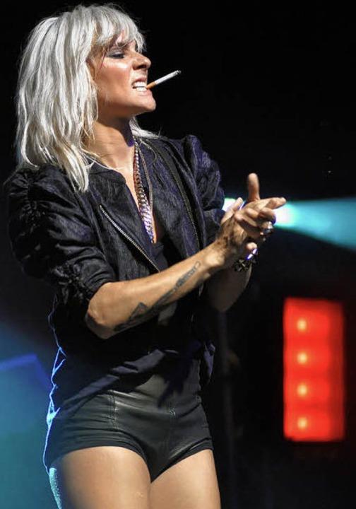 Verruchte Sängerin: Maja Ivarsson von The Sounds     Foto: rother