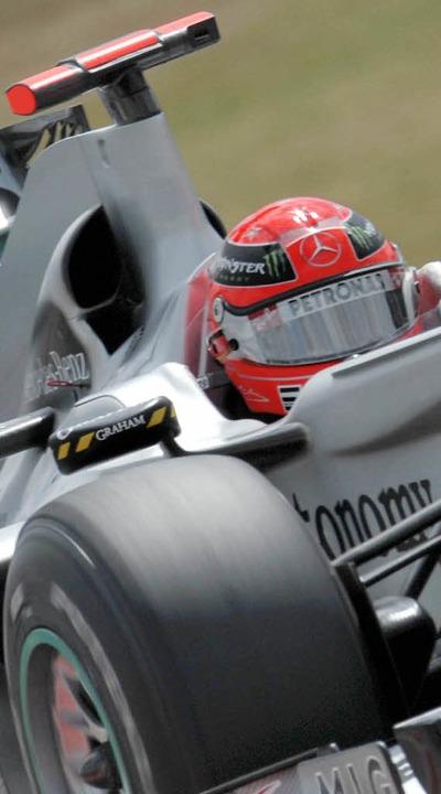 Auch Michael Schumachers Comeback lock...len Vermarktungsbemühungen zum Trotz.     Foto: DPA