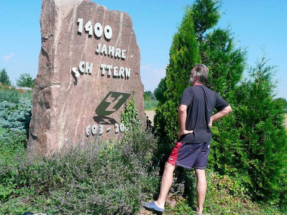 Claus Geppert (Foto) hat den Stein gebaut.  | Foto: Privat
