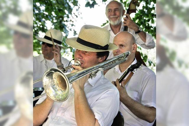 Jazz im schattigen Garten