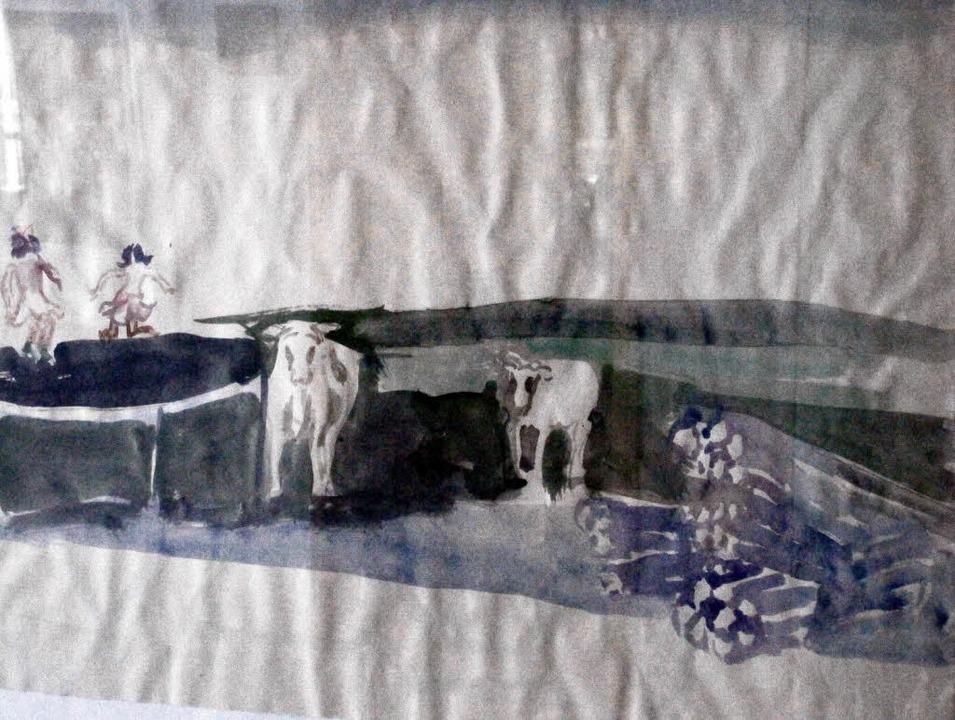 Jürgen Giersch Zeichnung    Foto: Christina Strohm