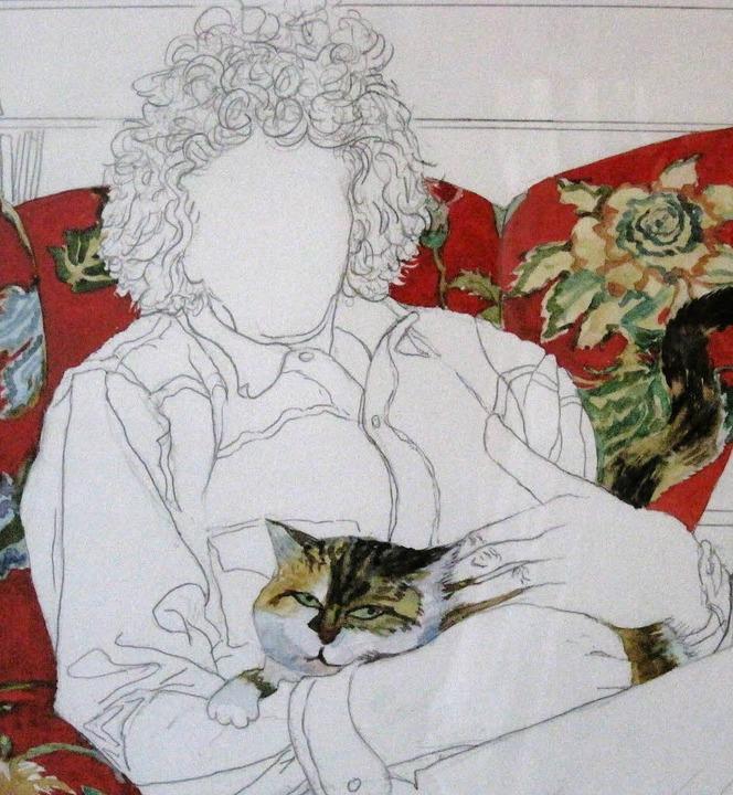Margot Degand Zeichnung    Foto: Christina Strohm