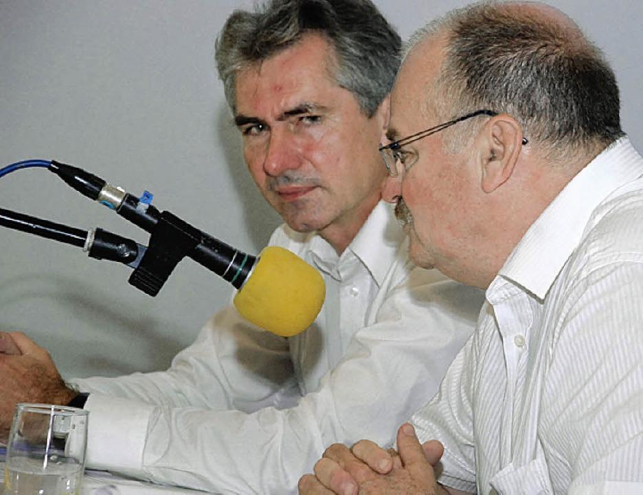 Hans-Peter Wurdak (l.) und  Reinhard Kirpes.     Foto: Siefke