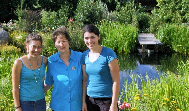 Herzstücke des Permakulturgartens in E...h (von links) den Garten für Besucher.  | Foto: Ounas-Kräusel